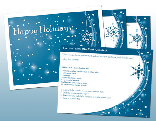 Holiday Recipe Cards
